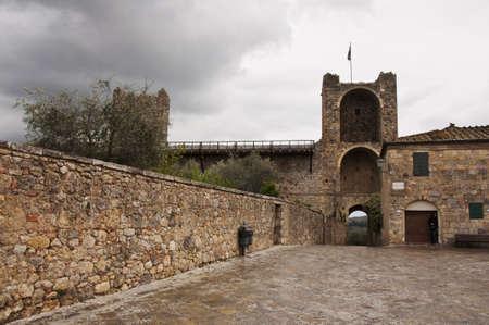 the fort of Monteriggioni next to Siena, Tuscany, Italy Banco de Imagens - 13658720