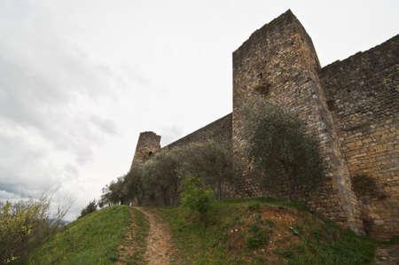 the fort of Monteriggioni next to Siena, Tuscany, Italy Stock Photo - 13739940