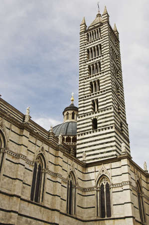 Duomo Cathedral is the most important church in Siena, symbol fo italian gothic style, located in the historical city of Siena in Tuscany, Italy