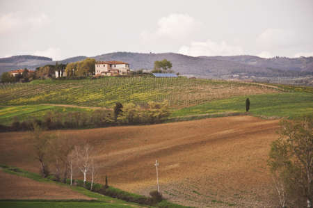 Landscape and countryside in Chianti, Tuscany, Italy photo