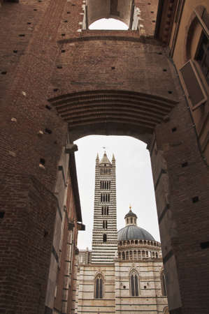 Tower bell of the Duomo Cathedral in Siena, Tuscany, Italy
