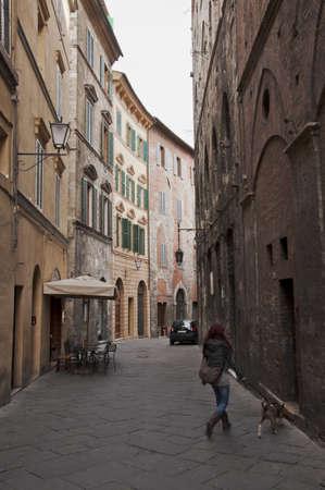 backstreet: streets and buildings in Siena, Tuscany, Italy Stock Photo
