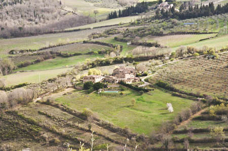 farmland and countryside in Chianti, Tuscany, Italy photo