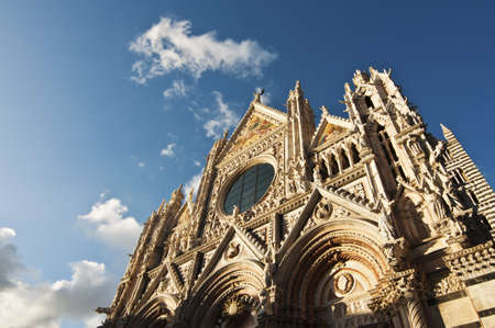 Facade of the Duomo in Siena, Tuscany