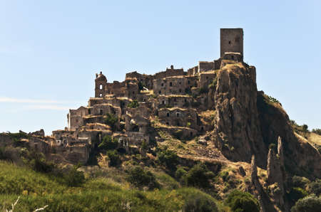 the ghost and abandoned city of Craco, Basilicata, Italy  Editorial