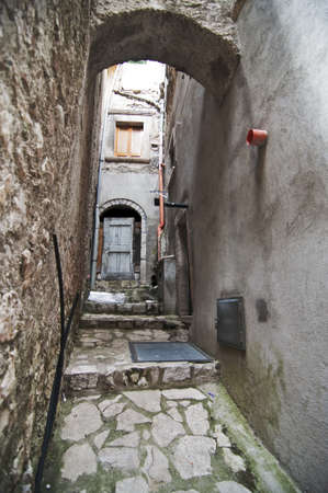 europeans: narrow street in an italian small village