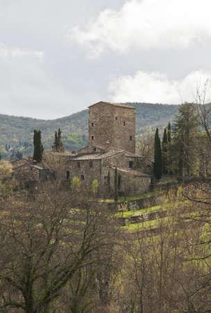 medieval castle in Chianti, tuscany, Italy Banco de Imagens - 15055835