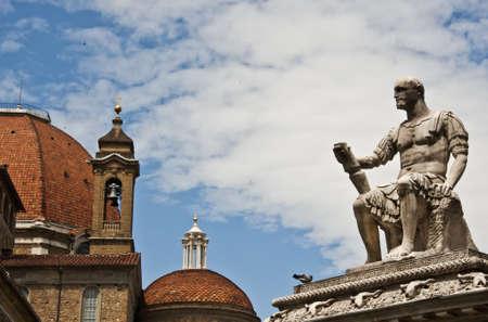 lorenzo: details of San Lorenzo in Florence, Italy