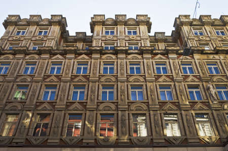 facade of building in downtown Prague