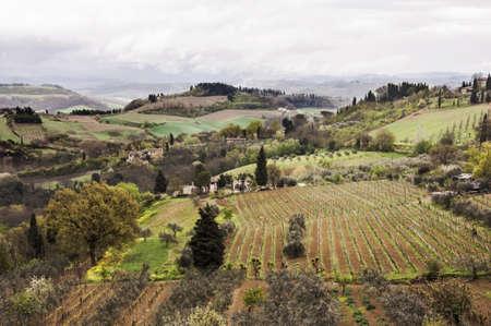 chianti: farmland and countryside in Chianti, Tuscany, Italy