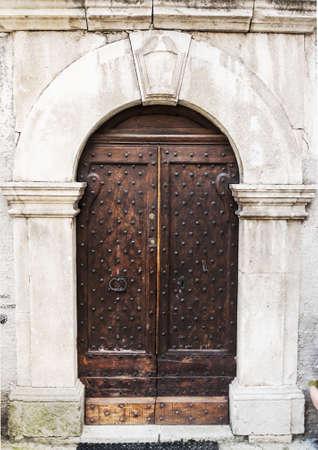 Italian Door In Small Village, Italy Stock Photo   16847532