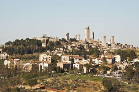 panoramic view of san gimignano, tuscany, italy Banco de Imagens