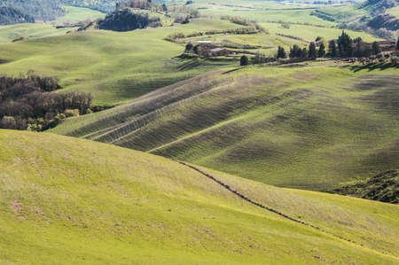 landbouwgrond en het platteland in Chianti, Toscane, Italië