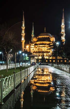 view of the blue mosque in sultanahmed, Istanbul Stock Photo - 17960691