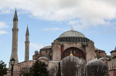 view of the Hagia Sofia in sultanahmed, Istanbul Stock Photo
