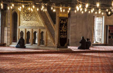 이스탄불, 터키에서 블루 모스크 내부