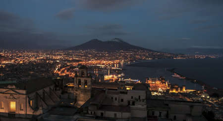 view of the volcano and bay of naples, italy Stock Photo - 18723112