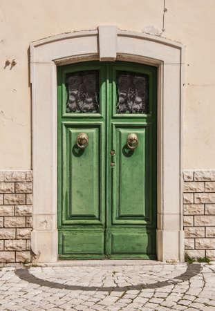 italian door in small village, Italy