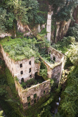 sorrento: view of the deep valley of the mills in Sorrento, Italy Stock Photo
