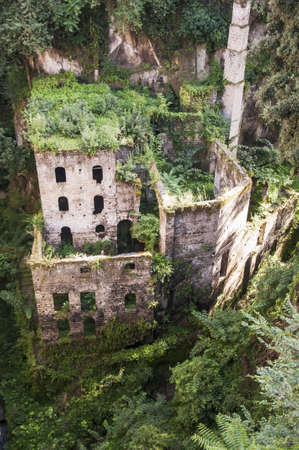 mill valley: view of the deep valley of the mills in Sorrento, Italy Stock Photo