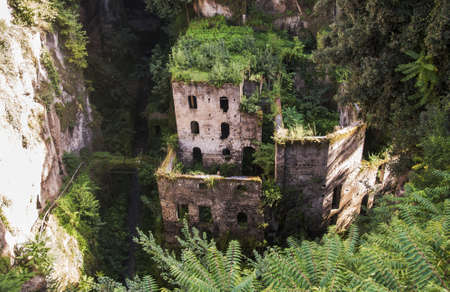 view of the deep valley of the mills in Sorrento, Italy Standard-Bild