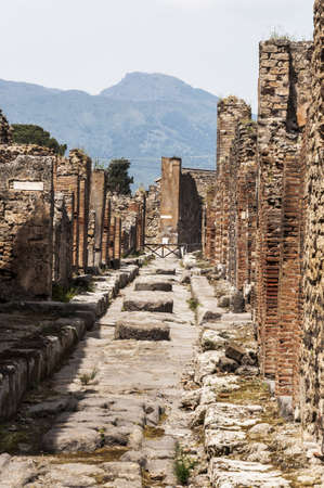 archeologic ruins of Pompeii in Italy photo