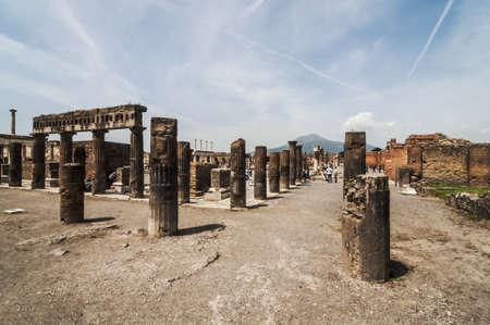 archeologic ruins of Pompeii in Italy photo