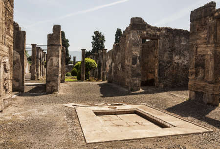 archeologic ruins of Pompeii in Italy