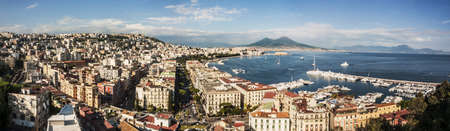 panoramic view of the city of Naples, Italy
