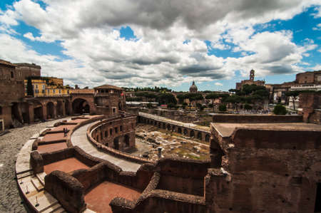 view of roman forum in Roma, Italy photo
