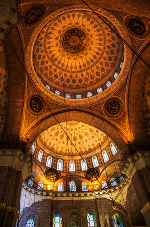 beautiful cealing inside a mosque in Istanbul  Turkey