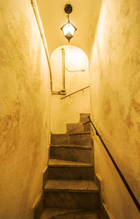 narrow stairs inside a old building Stock Photo - 22698912