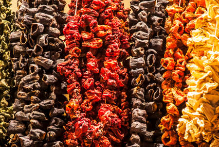 bazar: dried fruits in a bazar, Istanbul  Turkey Stock Photo