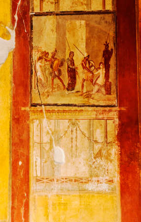 Roman Wall Painting Venus In Pompeii, Italy Stock Photo, Picture And ...