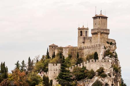fortress and wall of San Marino Republic Editorial