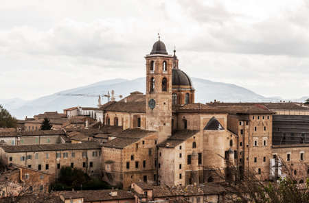 urbino: panoramic view of the city of Urbino, Italy