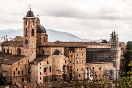 panoramic view of the city of Urbino, Italy