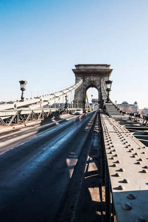 view of the Chain Bridge in Budapest, Hungary
