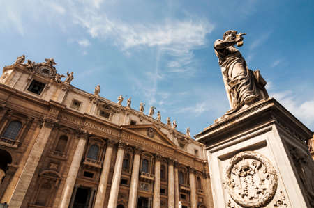st  peter s square: view of the St  Peter Stock Photo