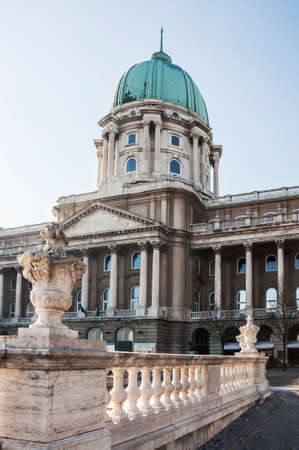 buda: view of the Royal Palace in Buda, Budapest, Hungary