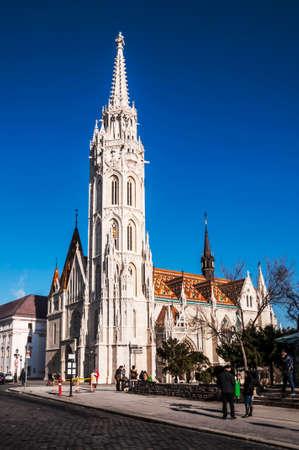 buda: vue sur l'�glise Matthias de Buda, Hongrie