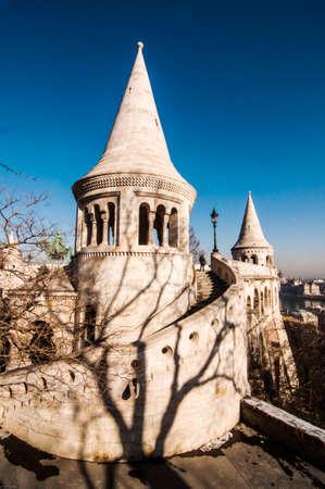 buda: vue sur le Bastion des P�cheurs � Buda, Budapest, Hongrie �ditoriale