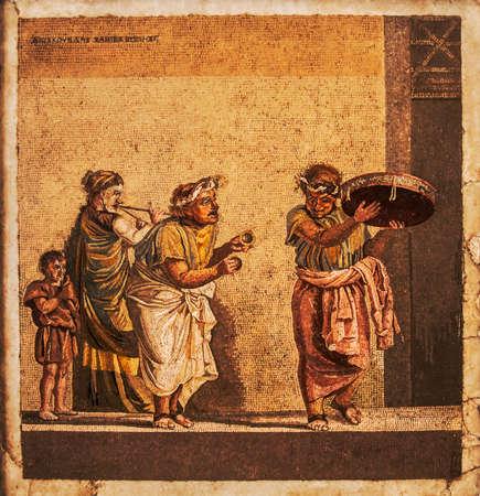 Roman mozaïek van Pompeii huizen, Napels
