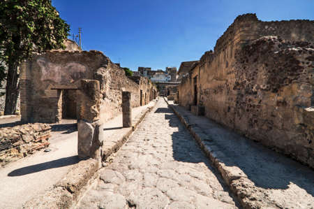 view of the Herculaneum excavation, Naples, Italy Imagens