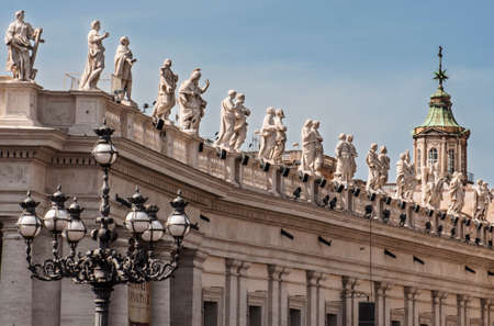 st peter s square: view of the St  Peter Editorial