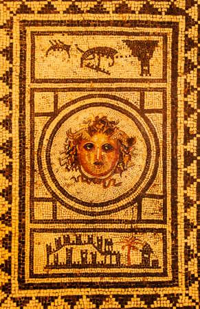 roman mosaic from pompeii houses, Naples