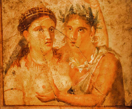 archaeologists: Roman fresco founded in Pompeii excavation, Italy