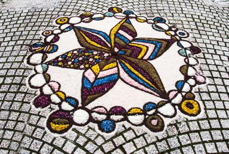 artistic flower decoration in an italian village Zdjęcie Seryjne