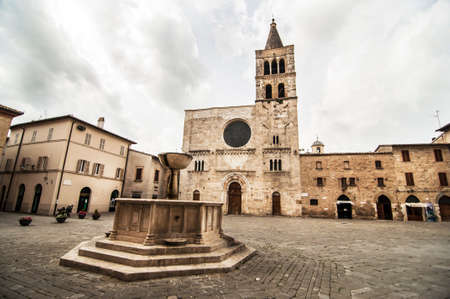 medieval architecture in the small village of Spello, Umbria, Italy Stock Photo - 37163276