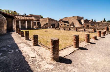 view of the Herculaneum excavation, Naples, Italy Standard-Bild